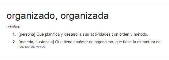 definicion google organizado