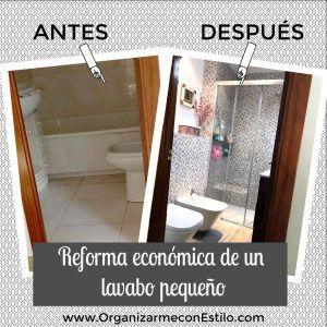 Reforma y organización de un baño pequeño low cost